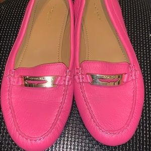 Hot PINK Coach loafers